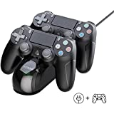 Controller for Playstation 4, PS4 Controller Charger for Sony Playstation 4/ PS4/ Slim/ PS4 Pro Charging Dock Stand Station