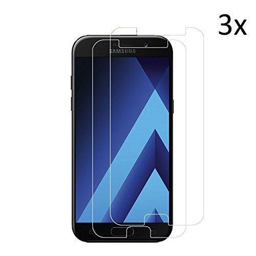 Cäsar-Glas [3 Stück] Schutzglas für Samsung Galaxy A5 2017, Anti-Kratzen, Anti-Öl, Anti-Bläschen, 9H Echt Glas Panzerfolie Schutzfolie