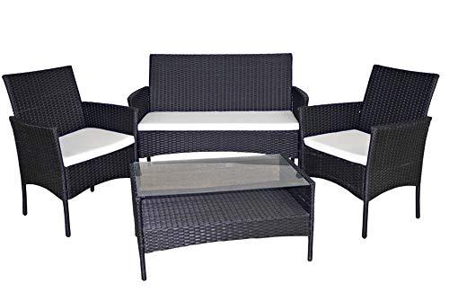Gerimport Set de mobiliario de jardín de rattan
