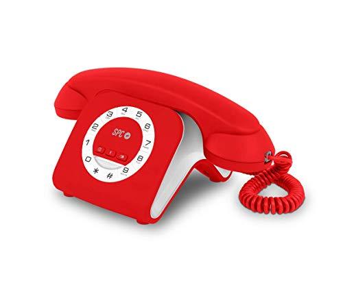 SPC Retro Elegance Mini teléfono Fijo diseño Elegante