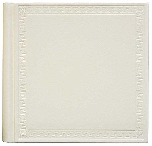 Innova Q021258 klassiek fotoalbum, 80 pagina's, leer, ivoorkleurig