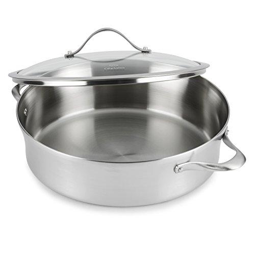 Calphalon Contemporary Stainless Steel Cookware, Sauteuse, 5-quart