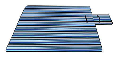 ZENEZ Coperta da Picnic - Coperta Impermeabile Extra Large Quadrata in Pelle Scamosciata per Outdoor Camping Beach (Plaid Blu 200 x 200 cm)