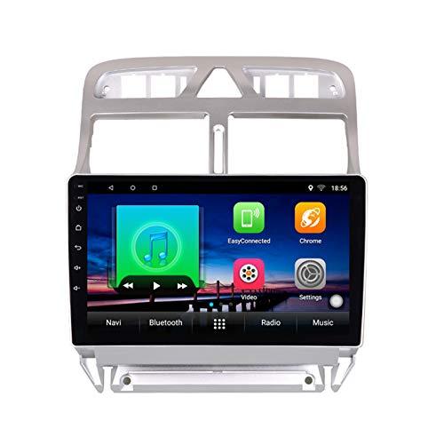 FAIRPrin 9 Pollici Multimediale Navigazione GPS Autoradio per Peugeot 307 307CC 307SW 2004-2013, FM/RDS/Bluetooth/Video/Comandi al Volante/Fotocamera Posteriore,4 Core,WiFi: 1+16G
