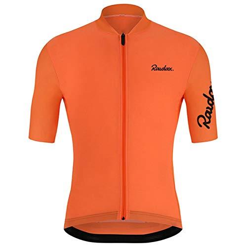 ZTTT Ropa de Ciclismo Ciclismo Jerseys Racing Bike Ropa MTB Sportwears Ropa de Bicicleta (Color : Orange, Size : XS)