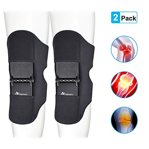 ANCROWN Power Knee Stabilizer Pads, 2020 New Version Powerknee Braces Joint Support, Protective Gear...