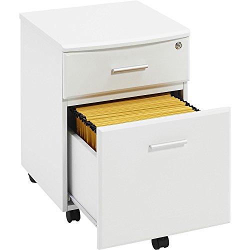 Piranha Trading Cajonera y archivador A4 con Cerradura para despacho y Oficina en casa melamina effecto Madera Blanca PC 10s 🔥