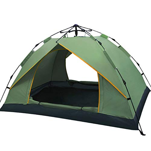 WGYDREAM Automatic Tent Pop Up Instant Tent 2 Person Camping Double Layer Outdoor Tent Waterproof Windproof Anti-UV Portable Backpacking Tents (Color : Green)