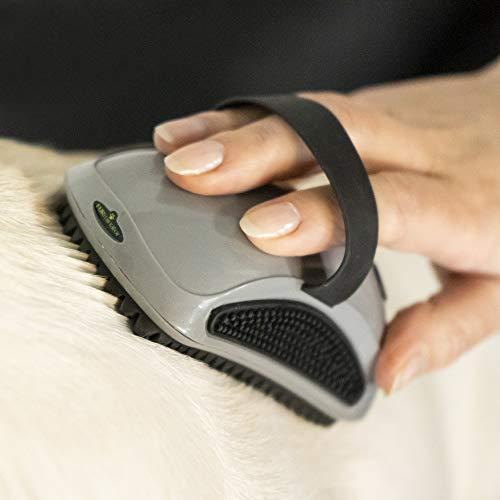 FURminator Striegel für Hunde, Fellpflege Hundebürste zum Ausbürsten von Staubundlosem Haar für gesundes glänzendes Fell, mit Gummi Noppen und ergonisch geformtem Griff - 7