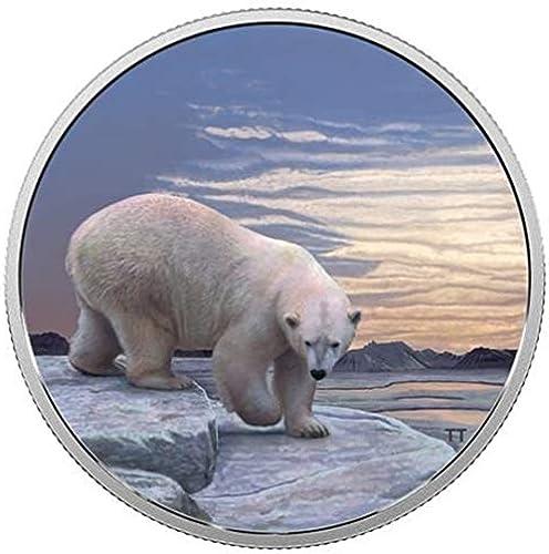 Arctic Tiere und Northern Lights Edition Royal Canadian Mint Glow in The Dark Medaille. 2  .9999 ne Silber. Inkl. SchwarzTaschenlampe zu versch rn Sehvergnügen.