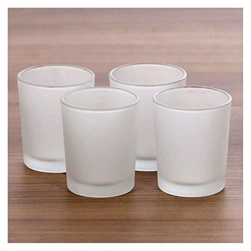 Bütic GmbH gefrostete Teelichtgläser hoch für 40mm Teelichter Votivglas Windlicht Teelicht, Größe:4er Set