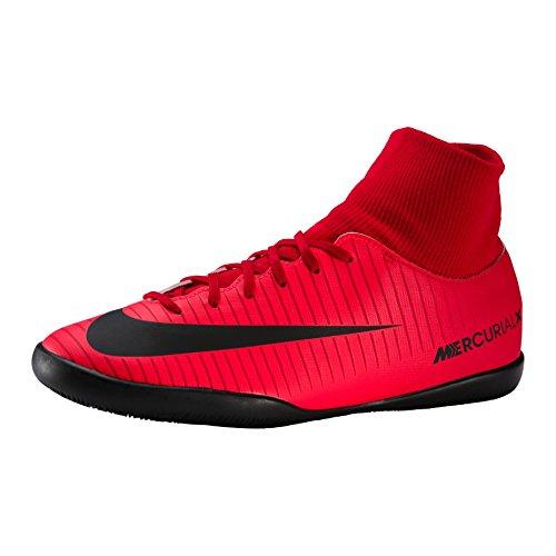 Nike Unisex-Kinder Jr. Mercurial X Victory 6 Dynamic Fit IC Fußballschuhe, Schwarz Black White Dark Grey University Red, 33 EU