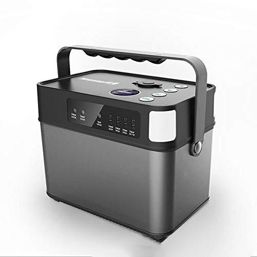 Accumulatore di Energia Portatile 500W al litio 140400mAh Power Station, 505 Wh batteria di backup CPAP Alimentatore Presa 220V AC, QC3.0 USB, 12V   24V DC, torcia a LED, per campeggio, emergenza