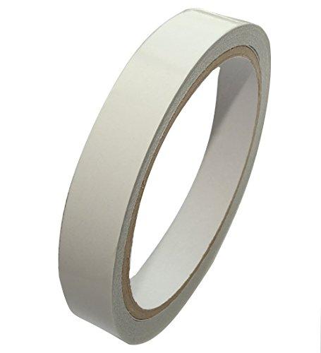 Aerzetix plakband, dubbelzijdig, wit, 15 mm, 10 m, C17190