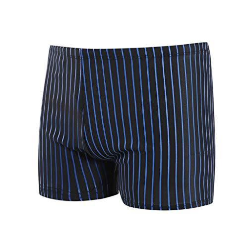 KaloryWee 2020 Sommer neu Herren Badehose Strandhose Slim Plus Size Breathable Schnelle trockene Streifen Unterwäsche Klassische 4XL Strandshorts(XXX-Large,Blau C)(XXX-Large,Blau C)