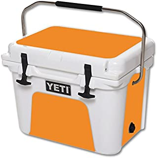 MightySkins (Cooler Not Included) Skin Compatible with YETI Roadie 20 qt Cooler wrap Cover Sticker Skins Solid Orange