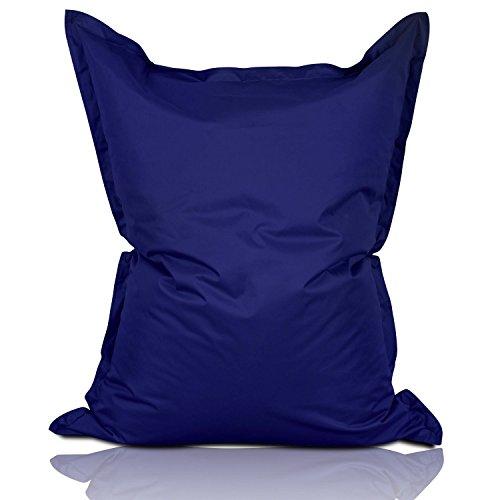 Lumaland Luxury Riesensitzsack XXL Sitzsack 380l Füllung 140 x 180 cm Indoor Outdoor Dunkelblau