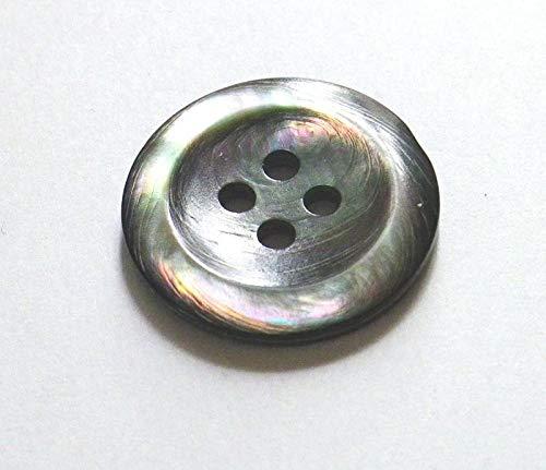 黒蝶貝ボタン スーツ専用貝ボタン 15mm・20mm・お得なスーツ1着分セット SH-2202 (20mm)