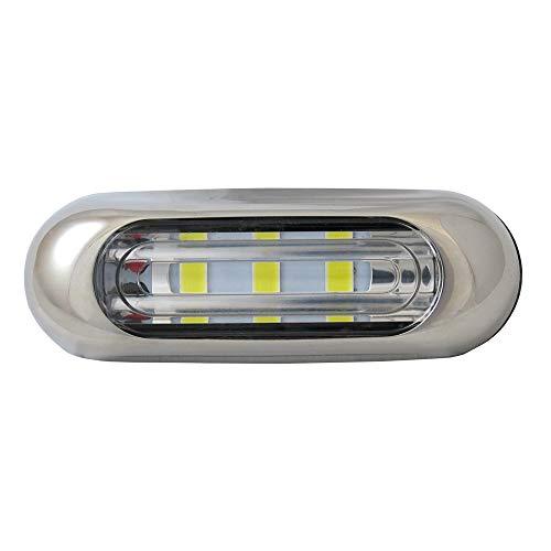 Manufacturers' Select ITC Inc Surface Mount Exterior LED Backup/Flood/Docking Light, Watertight Marine/RV LED Light with Stainless Steel Bezel (Surface Mount) (X002CI0DLZ)