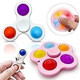 Yetech Bubble Sensory Fidget Toys,3 Pezzi Push Bubble Toys con Funzione di Rotazione,Portachiavi Toy,Giocattolo da scrivania Antistress Giocattolo Anti-ansia per Bambini, Adulti, autismo, ADHD