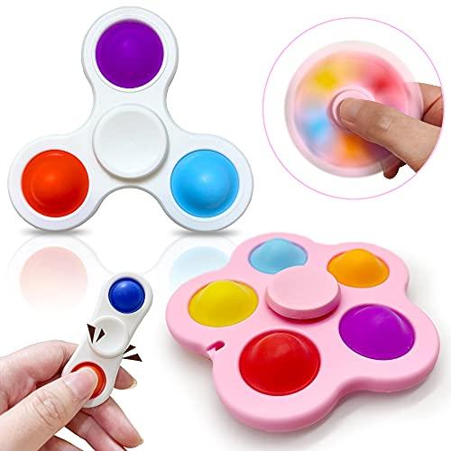 Yetech Juguete Antiestrés Sensorial de Explotar Burbujas,3pcs mágico Spinning Juguetes sensorial ,Silicona Sensorial Juguete Herramientas para aliviar el estrés y la ansiedad para niños y Adultos