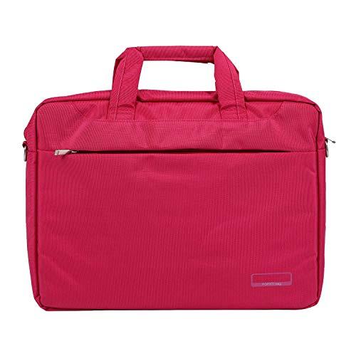 Kuinayouyi Bolsa para ordenador portátil 17 pulgadas de nylon airbag bolso de hombro bolsas de ordenador impermeable mensajero mujeres hombres Notebook bag (rosa rojo sin airbag)