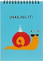 Pavilion - Snailing It! - 7インチユーモラスなカタツムリ100ページハードバックノートパッド。