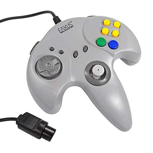 Eaxus® Controller für N64 - Gamepad für Nintendo 64 Konsole mit Vielen Funktionen, Grau