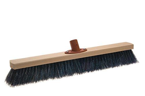 BawiTec Rosshaarbesen mit Quick-Stielhalter Kehrbesen weich 28cm 40cm 50cm 60cm Naturhaar Rosshaar Besen (28cm)