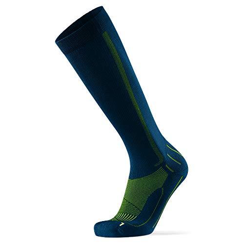 Calcetines de Compresión 1 par (Azul/Amarillo neón, EU 35-38)