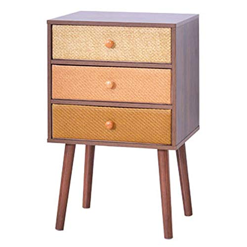 Côté Salon/Mini Coin de Salon/Coin Cabinet, tiroir de Rangement Multicouche en Tissu pour Table de Chevet, Trois Niveaux, 40 × 30 × 62,8 cm