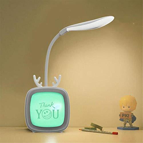 Lámpara LED de escritorio de protección de ojos LED de lectura de escritorio de la luz de cuidado de los ojos lámparas de mesa con clip de la lámpara de mesa de 3 modos de luz regulable-C gris