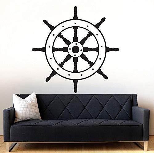 Njuxcnhg Schiff Rad Dekor Aufkleber nautische Sailor Wall Decal Vinyl Wall Art Sticker abnehmbare Wohnzimmer Sofa Hintergrund Wand Papier 57 X 57 cm