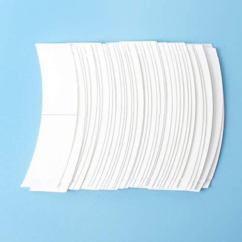 36 Pcs/Bag Double Sided Adhesive Tapes for Hair Extension Lace Front Support Toupee Wigs (White Color 1/2)