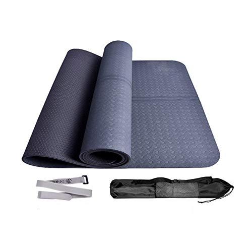 Shengg yogamat, licht, draagbaar en antislip, eco-sostenbar van natuurlijk rubber, biologisch afbreekbaar met exclusief handleiding (mogelijk niet beschikbaar in het Nederlands).
