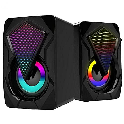 FeelMeet Altavoces de la computadora con el Cable USB Inicio Gaming Audio portátil Multi-funtion Audio de Escritorio Tablet Negro