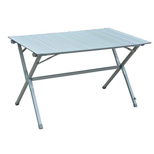 Outsunny Campingtisch Klapptisch Universaltisch Gartentisch mit Tragetasche Alulegierung Silber 115 x70 x69 cm