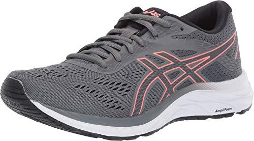 ASICS Women's Gel-Excite 6 Running Shoes, 8.5, Steel Grey/Papaya