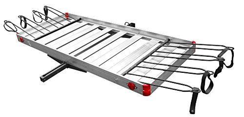 Tow Tuff TTF-2762ACBR 2-in-1 Aluminum Cargo Carrier with Bike Rack