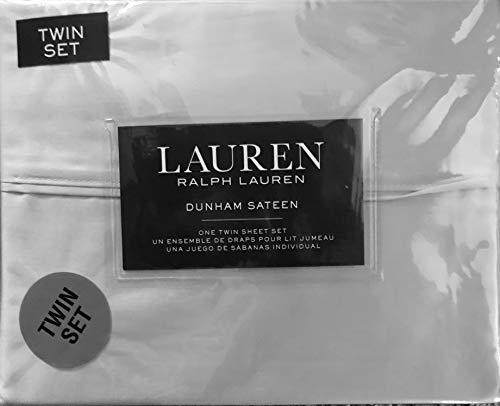 Ralph Lauren Dunham Sateen 3 Piece Sheet Set SILVER TWIN (300 Thread Count)