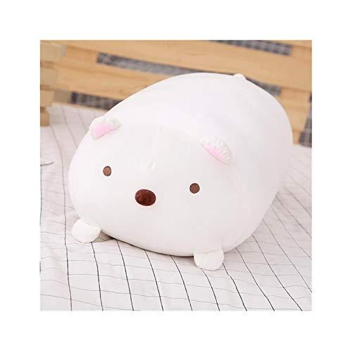 Youpin 30 / 60cm Linda Esquina Bio Almohada japonés de Kawaii Animación Sumikko Gurashi Juguete Relleno Felpa Suave Regalo de San Valentín for el bebé niña Kid (Color : White, Size : 60CM)
