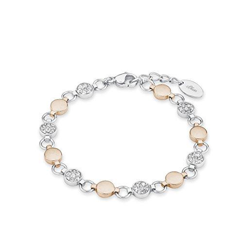 s.Oliver Armband für Damen Edelstahl IP rose