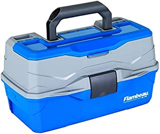 Flambeau Outdoors Unisex-Adult Flambeau 6382TB 2-Tray Hard TackleBox-Blue 6382TB, Multi, N/A