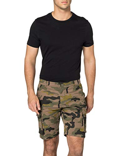 Only & Sons Onscam Stage Cargo Sho Camo Pg 8235 Shorts, Vert Olive, M Homme