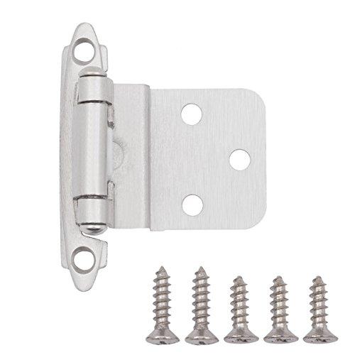 AmazonBasics AB-4004 Inset Hinge, 3/8-inch, Satin Nickel, 50 Pack