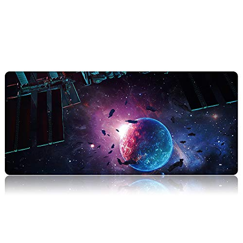 Bimormat Extended Large Gaming Mouse Pad,Computer Laptop XXL 90x40cm Mouse Mat with Stitched Edges Desktop Keyboard Personalized Mousepads Water-Resistant Non-Slip Rubber Base (90x40 B1oneball)