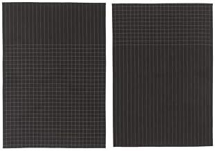 منشفة المطبخ قطن من ايكيا بنمط مربعات - لون اسود