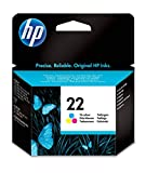 HP 22 C9352AE, Tricolor, Cartucho de Tinta Original, compatible con...