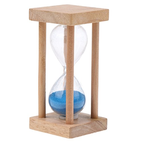 Gazechimp Holz Sanduhr, 5 Minuten - Blau
