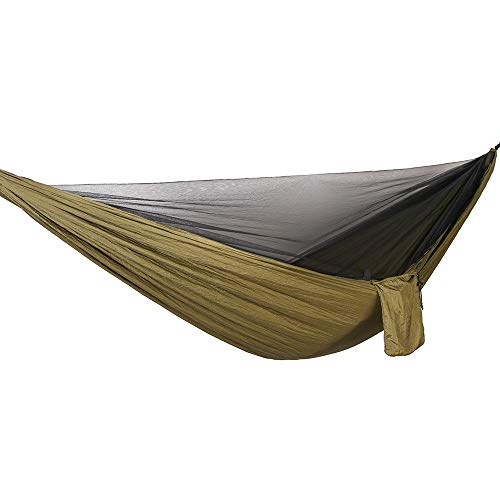 DW Hangmat Camping Draagbare Dubbele Boom Hangmat Outdoor Indoor Boom Hangmat Binnen en Outdoor Draagbare Strand Swing Bed met Hardhout Strew Paal Boom Opknoping 290×140cm